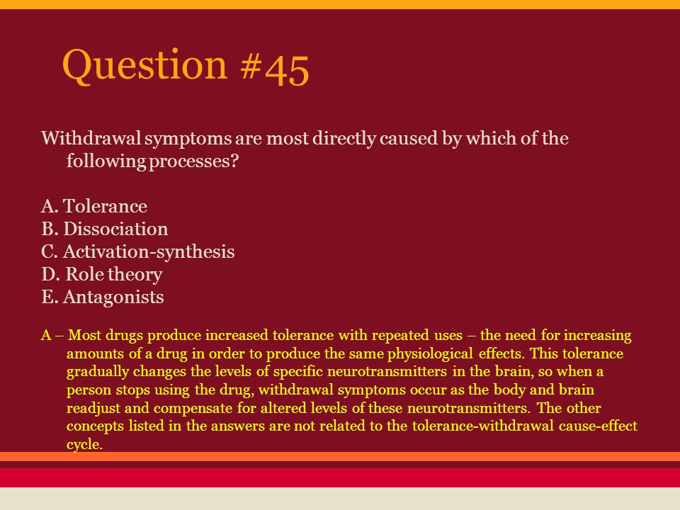 Question #46 What is the major difference between negative reinforcement and punishment.