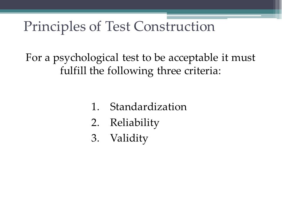 Standardization Standardizing a test involves administering the test to a representative sample of future test takers in order to establish a basis for meaningful comparison.