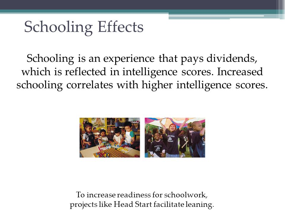Group Differences in Intelligence Test Scores Why do groups differ in intelligence.