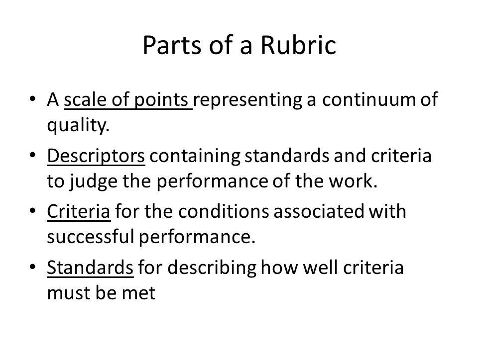 From checklist to rubric