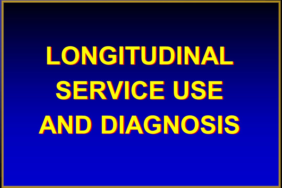 P URPOSE   To examine the impact of diagnoses on agency- generated longitudinal service use across multiple service sectors