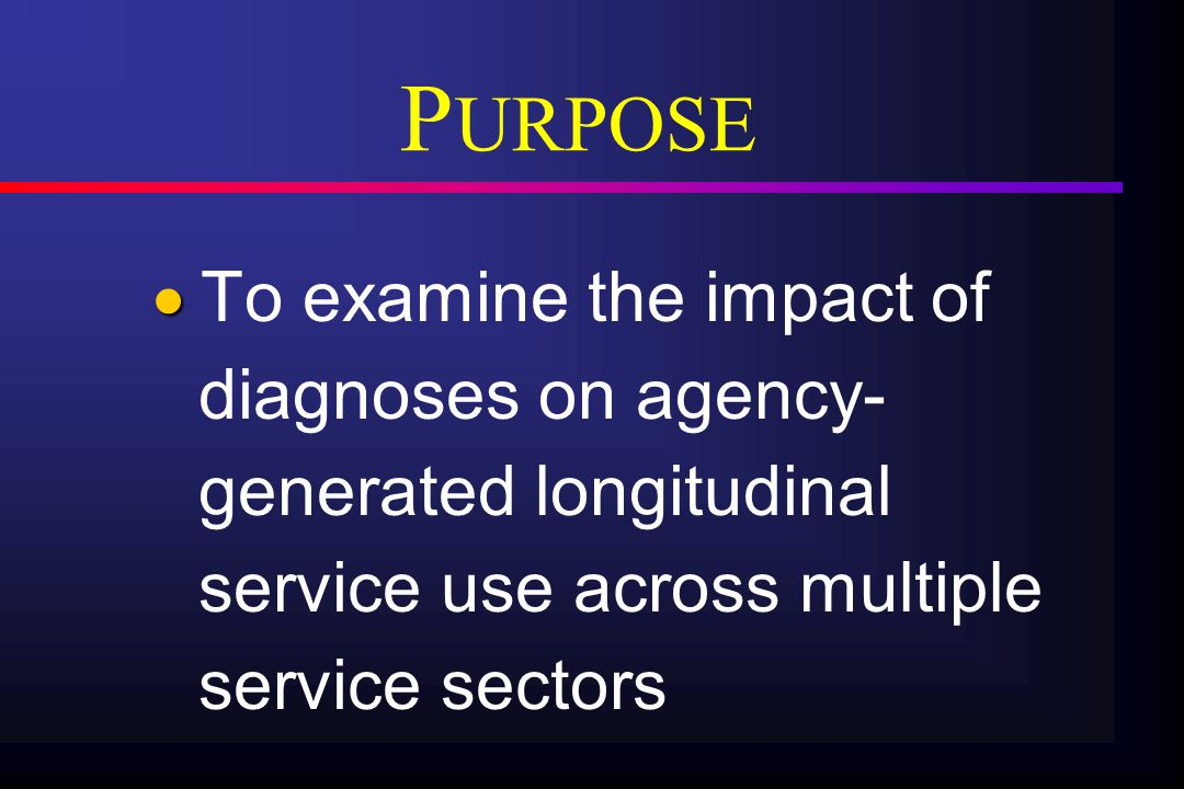 SERVICE USE   Total # service units in 12-month period aggregated in monthly increments   Service Units defined naturalistically   Five types of services: 1) Shelter services (# of nights) 2) Inpatient substance abuse (# of nights) 3) Outpatient substance abuse (# of direct contact hours) 4) Inpatient mental health (# of nights) 5) Outpatient mental health (# of direct contact hours)