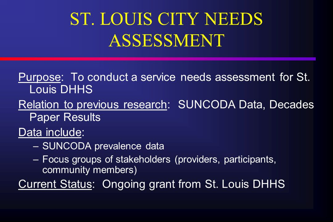 SHORT-TERM ASSERTIVE COMMUNITY TREATMENT Purpose: To implement a stage-based model of ACT, maximizing treatment efficiency for a comorbid MI/DA homeless population Relation to previous research: Builds on St.