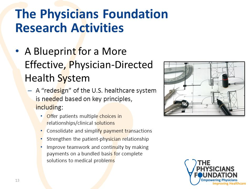 The Physicians Foundation Research Activities The Unintended Consequences of Regulation – Authored by Fred Hyde, MD – Explains how federal initiatives are having a corrosive effect on physicians and their practice of medicine 14