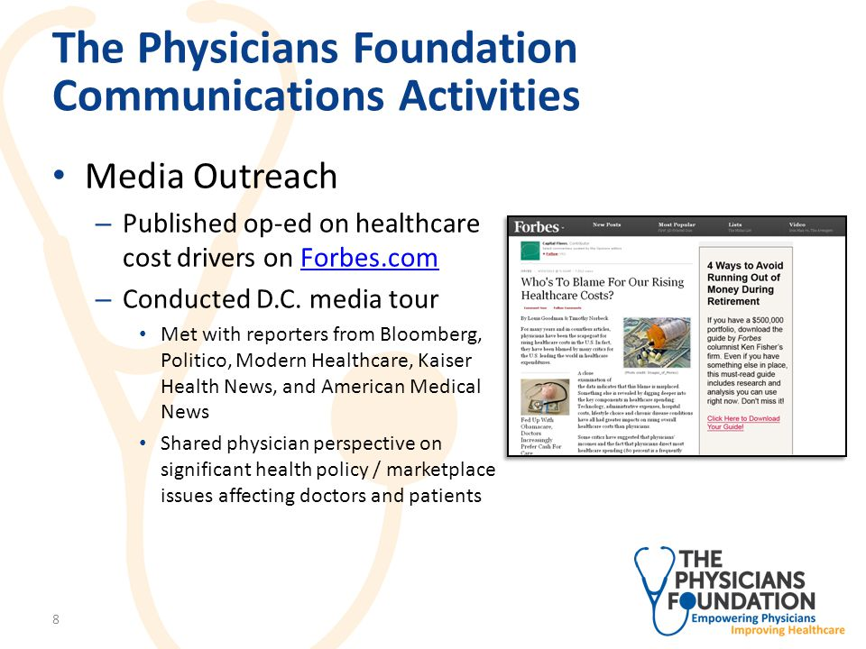 The Physicians Foundation Communications Activities Media Coverage 9