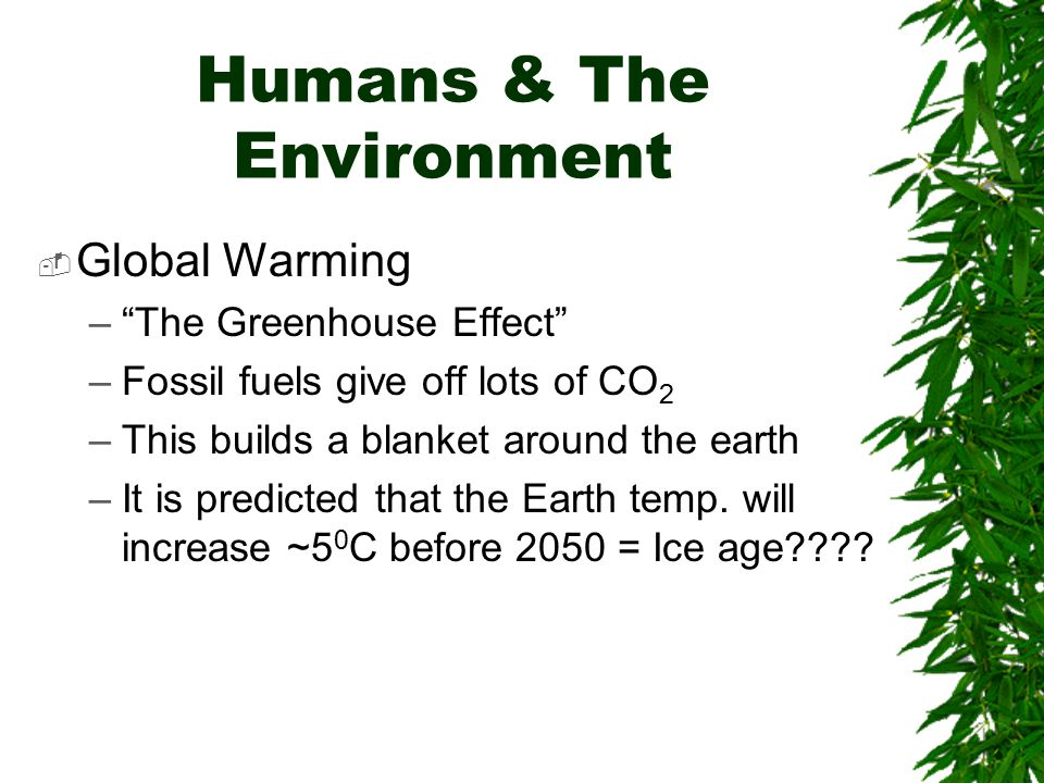Carbon Dioxide Increase  Carbon dioxide levels fluctuate seasonally  The average level is steadily increasing  Burning of fossil fuels & deforestation are contributing to the increase