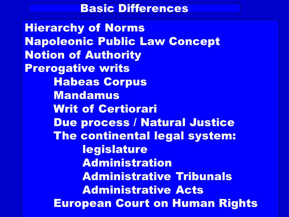 Legal Systems Unitary or Parallel Legal Systems Independence of the Judiciary Legal Dualism