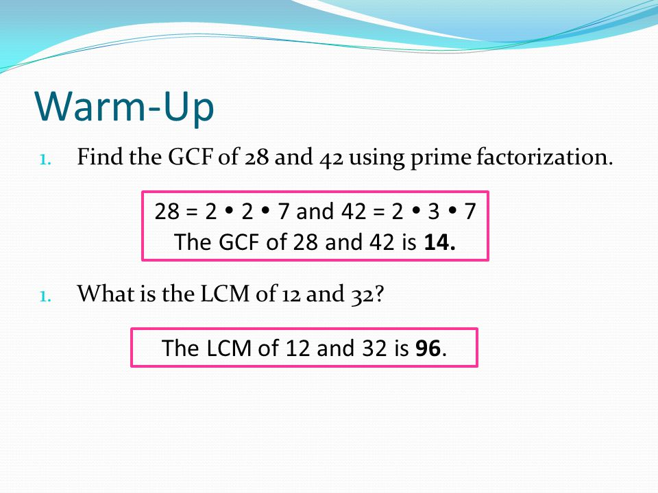 What is a factor.