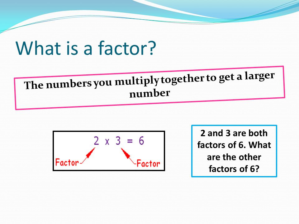 What is a prime number.Numbers that have no other factors but itself and one.