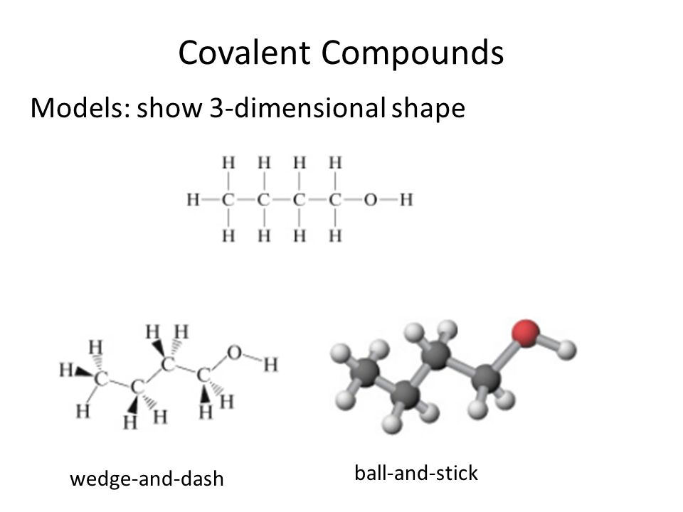 Covalent Compounds Models: Ball-and-Stick vs. Space Filling