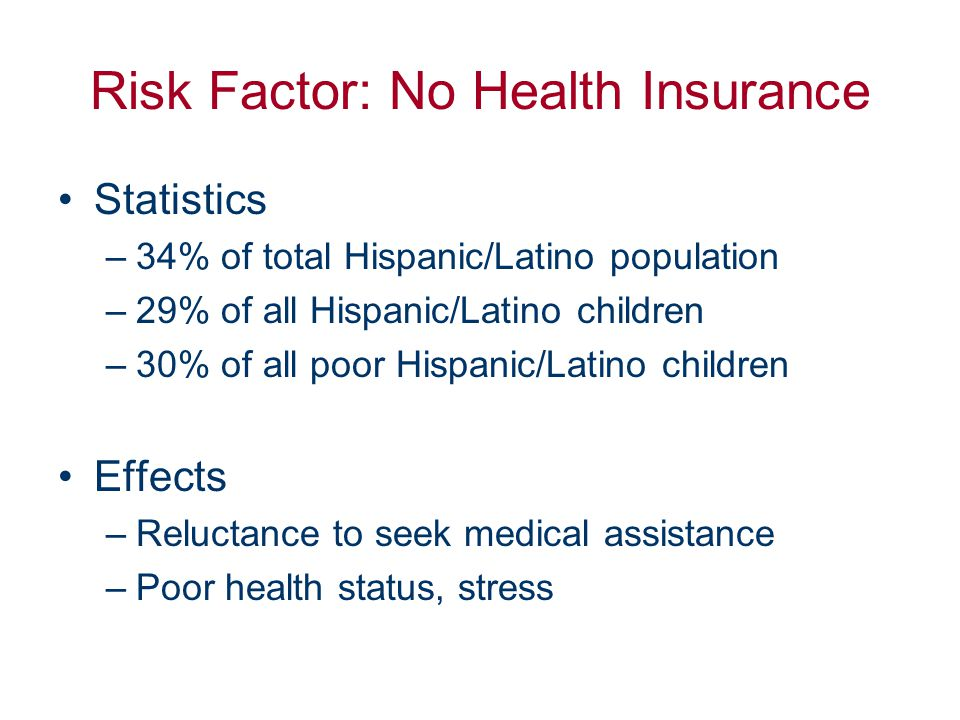 Insurance Barriers to Health In U.S., 16% (~43 million) lack health insurance Source: Census 2000.