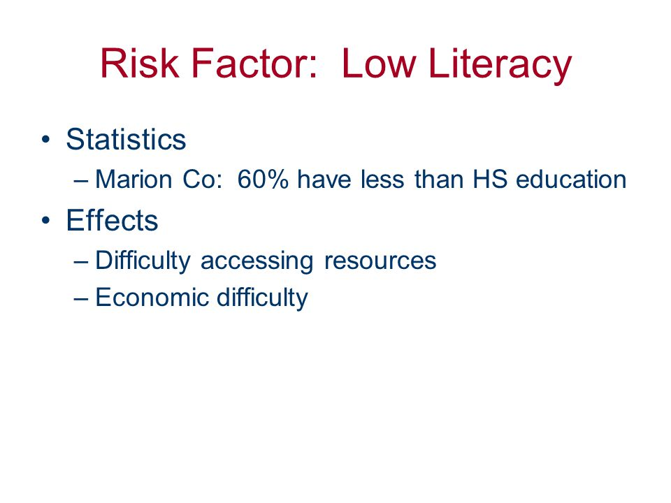 Educational Barriers to Health Care Education, Ages 25+ LatinosBlacksAsian/ Pacific Is.