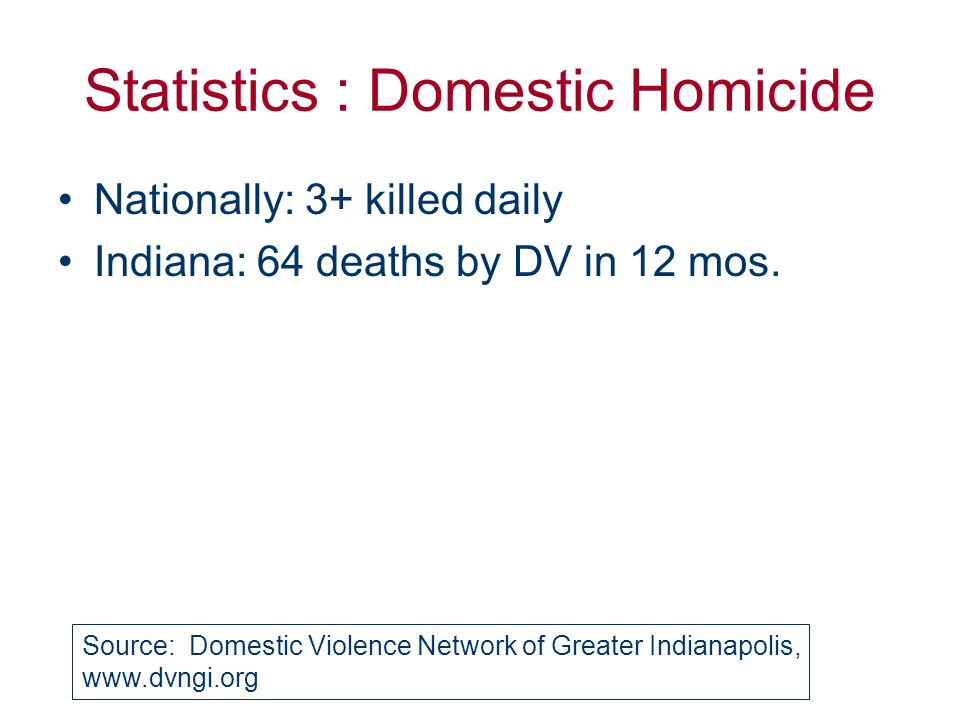 Statistics : Violence and Youth Nationally: 1 in 5 females in HS Marion Co: perhaps > 10,000, 15-24, in 1 yr.