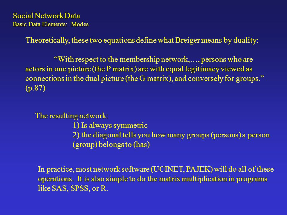 Existing Sources of Social Network Data: There are lots of network data archived.
