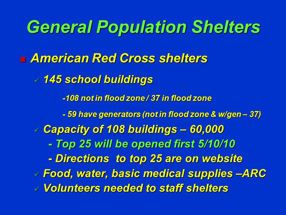 County Run Shelters First Responder Shelters First Responder Shelters Pet Friendly Shelters Pet Friendly Shelters Special Needs Shelters Special Needs Shelters