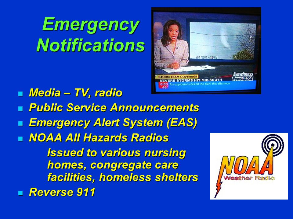 Emergency Notifications REVERSE 911 SYSTEM Suffolk County OEM can target a geographic area (Block, Town, House, Facility) with a recorded message to thousands of residents an hour.