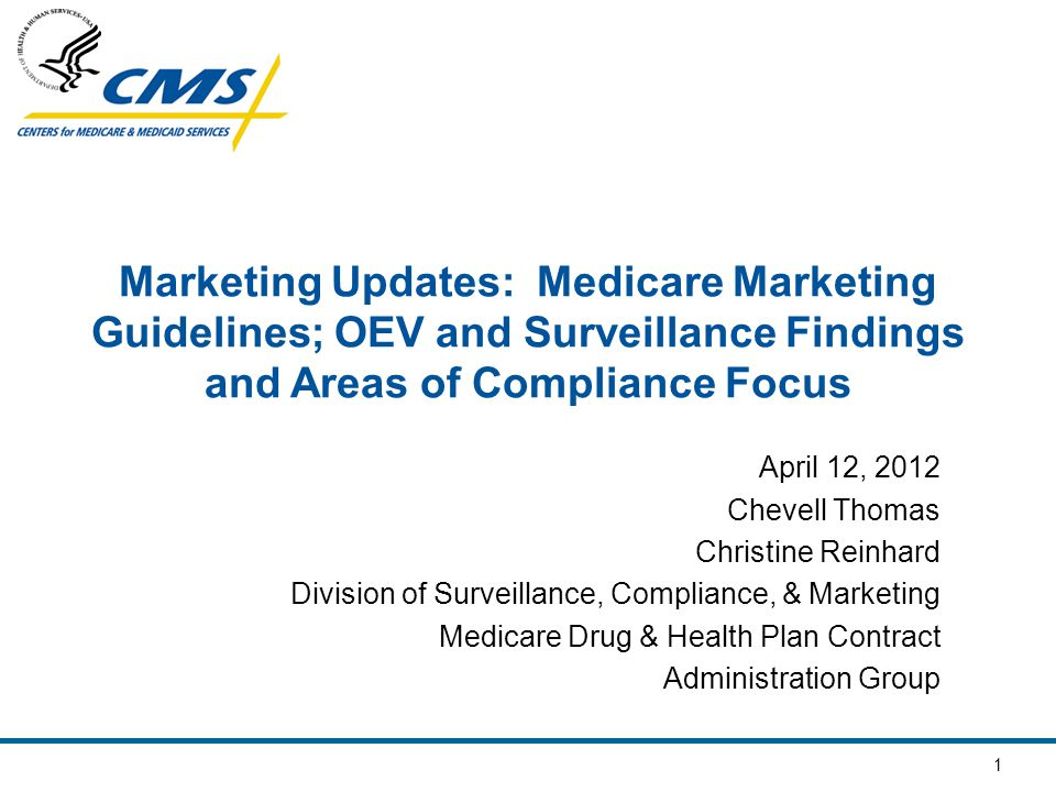 2 Overview of Presentation Medicare Marketing Guidelines (MMG) Outbound Enrollment Verification Calls Surveillance Results Compliance Focus for 2012