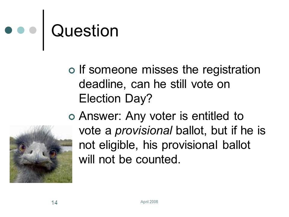 April 2008 15 Voter Registration Drives For helpful information, visit the State Board of Elections website at www.sbe.virginia.gov.