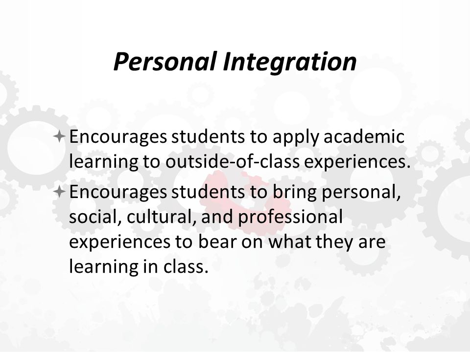 Cosmic Integration  Enables students to recognize the interconnectedness of all things.