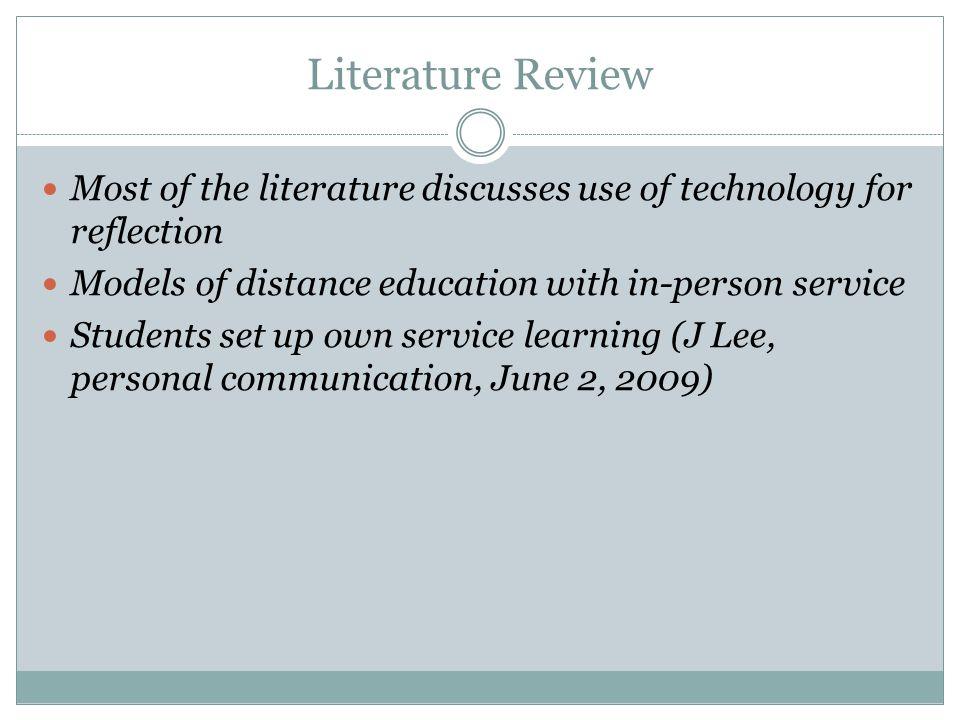 Literature Review Cont'd Burton, E.(2003).