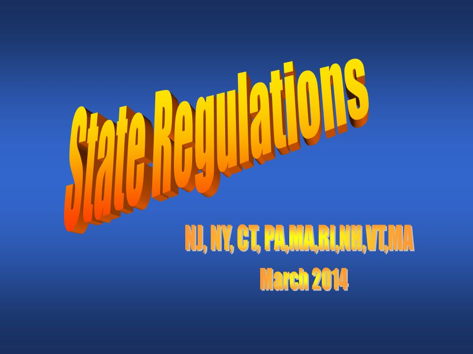 State Requirements New Jersey, www.