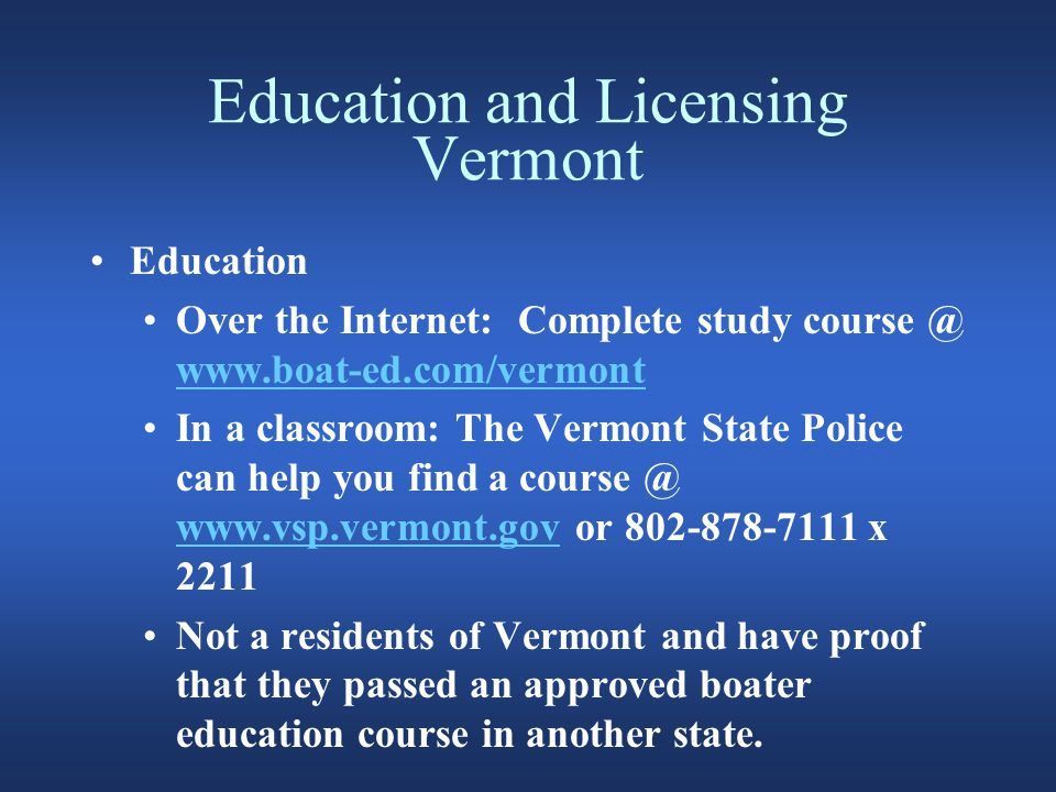 Education and Licensing New Hampshire Age for operating a power boat =< 25 hp does not have any restrictions Vessel > 25 hp => 16 yrs with a SBEC.