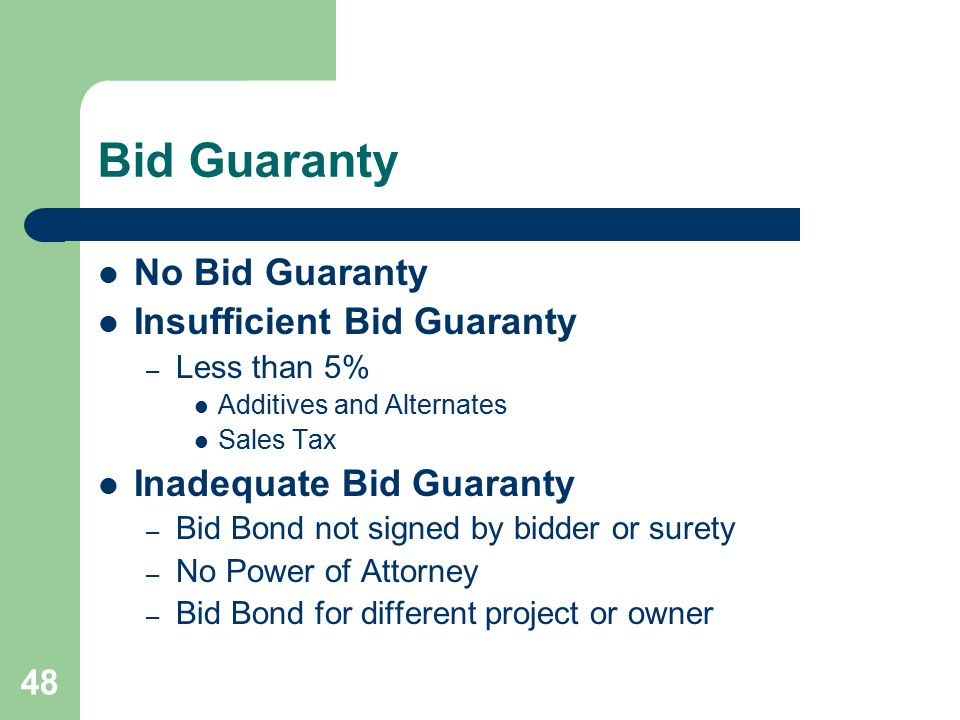 49 Timeliness of Bid Submittal Was the bid submitted by the deadline.