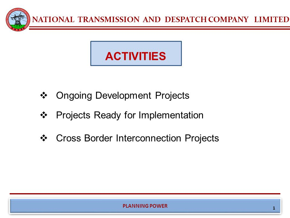 Ongoing Projects of NTDC