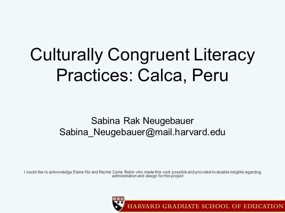 Low Literacy Rates in Peru