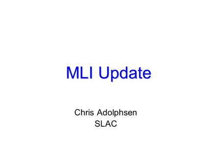MLI Update Chris Adolphsen SLAC. CAVITY VESSEL T4CM QUAD T4CM BPM QUADS LEADS 80K BLOCK 4K BLOCK Quadrupole Package.