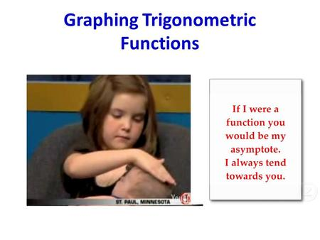 Graphing Trigonometric Functions. Objective (Begin With The End in Mind) I can determine the amplitude, period, phase shift, and vertical shift of a cosecant.