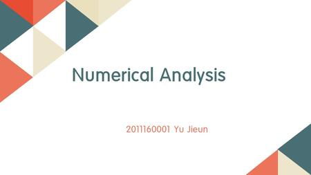 2011160001 Yu Jieun Numerical Analysis. Index 0101 0202 0303 SIR model Finite Difference Method, FDE Monte Carlo Simulation 1. Implicit 2. Explicit 3.