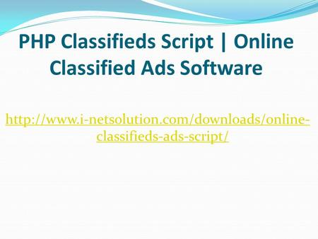 PHP Classifieds Script | Online Classified Ads Software  classifieds-ads-script/