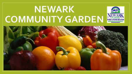 NEWARK COMMUNITY GARDEN. Fairfield Park Community Garden Fairfield Park 491 Stamford Drive Newark DE 19711.