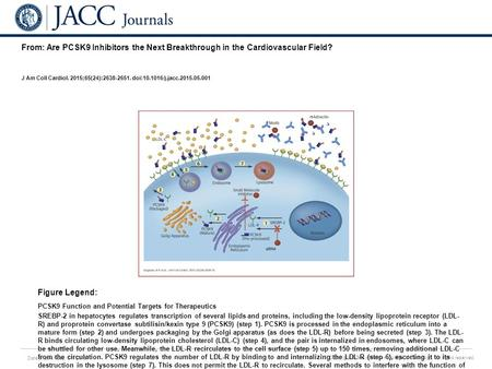 Date of download: 6/1/2016 Copyright © The American College of Cardiology. All rights reserved. From: Are PCSK9 Inhibitors the Next Breakthrough in the.