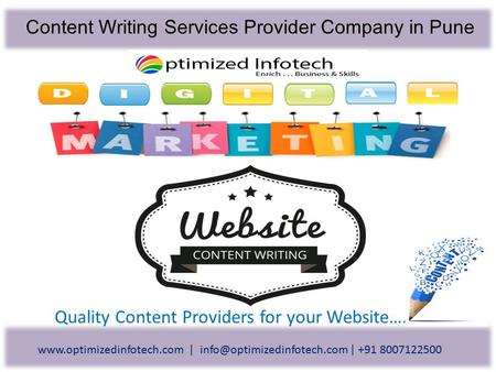 Content Writing Services Provider Company in Pune Quality Content Providers for your Website….  | |