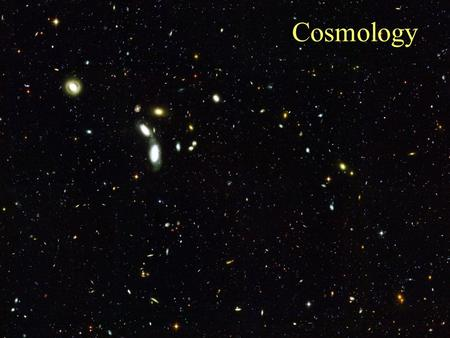 Cosmology. Olbers's Paradox The Universe may be infinite – if it is, why is the night sky dark?