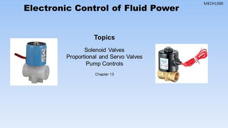 Proportional and Servo Valves