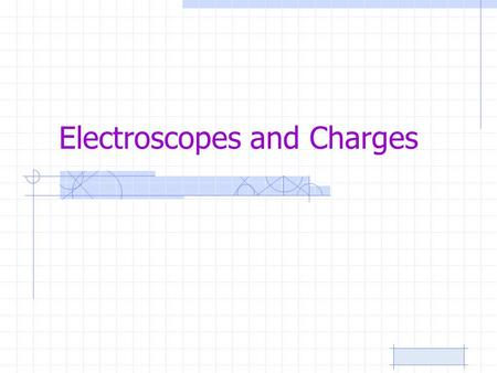 Electroscopes and Charges. Charge Distribution One of these isolated charged spheres is copper and the other is rubber. The diagram below depicts the.