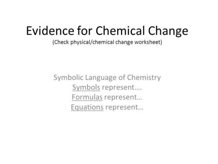 Symbolic Language of Chemistry