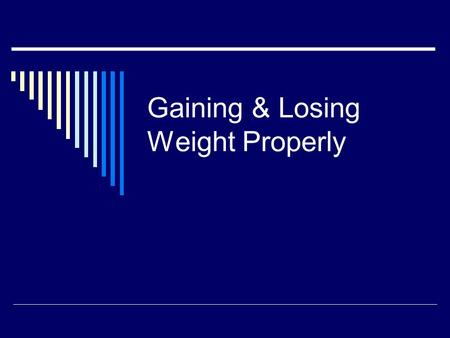 Gaining & Losing Weight Properly. How Much Should You Weigh?  Women should be at least 105 pounds for the first five feet of height, and another five.