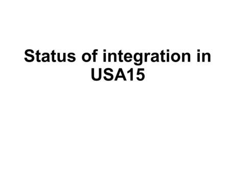 Status of integration in USA15. Status of rack layout 20/03/2015FTK Italia - A. Lanza2 Rack Y.05-09.A2 equipped with turbine cooling system and nominal.
