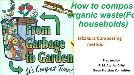 How to compost organic waste(For households)