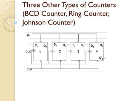 Counters In digital logic and computing, a counter is a device which stores (and sometimes displays) the number of times a particular event or process.
