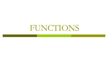 FUNCTIONS. Introduction  The concept of function is extremely important in discrete mathematics. Functions are used in the definition of such discrete.