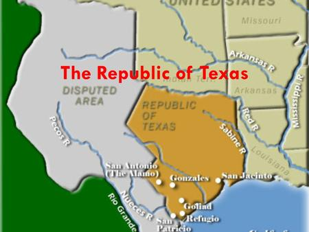 The Republic of Texas. The Beginning Elections held on September 5, 1836. Texas Constitution of 1836 is overwhelmingly approved. Most Texans vote to join.