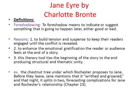 an analysis of story elements and settings in jane eyre by charlotte bronte Jane eyre by charlotte bronte jane eyre preface a preface to the first edition of 'jane eyre' being unnec- each picture told a story.
