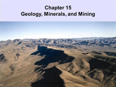 Chapter 15 Geology, Minerals, and Mining
