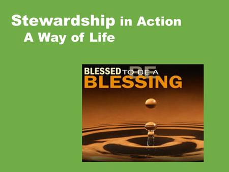Stewardship in Action A Way of Life.  Listen Actively: Look at the person who's speaking to you, try to really understand what you are hearing, don't.