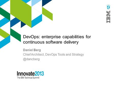 DevOps: enterprise capabilities for continuous software delivery